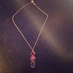 BOGO Pink and Purple Pendant Necklace